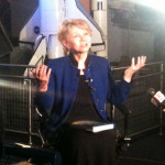 June Scobee-Rogers inspiring the world during one of dozens of interviews on January 28, 2011